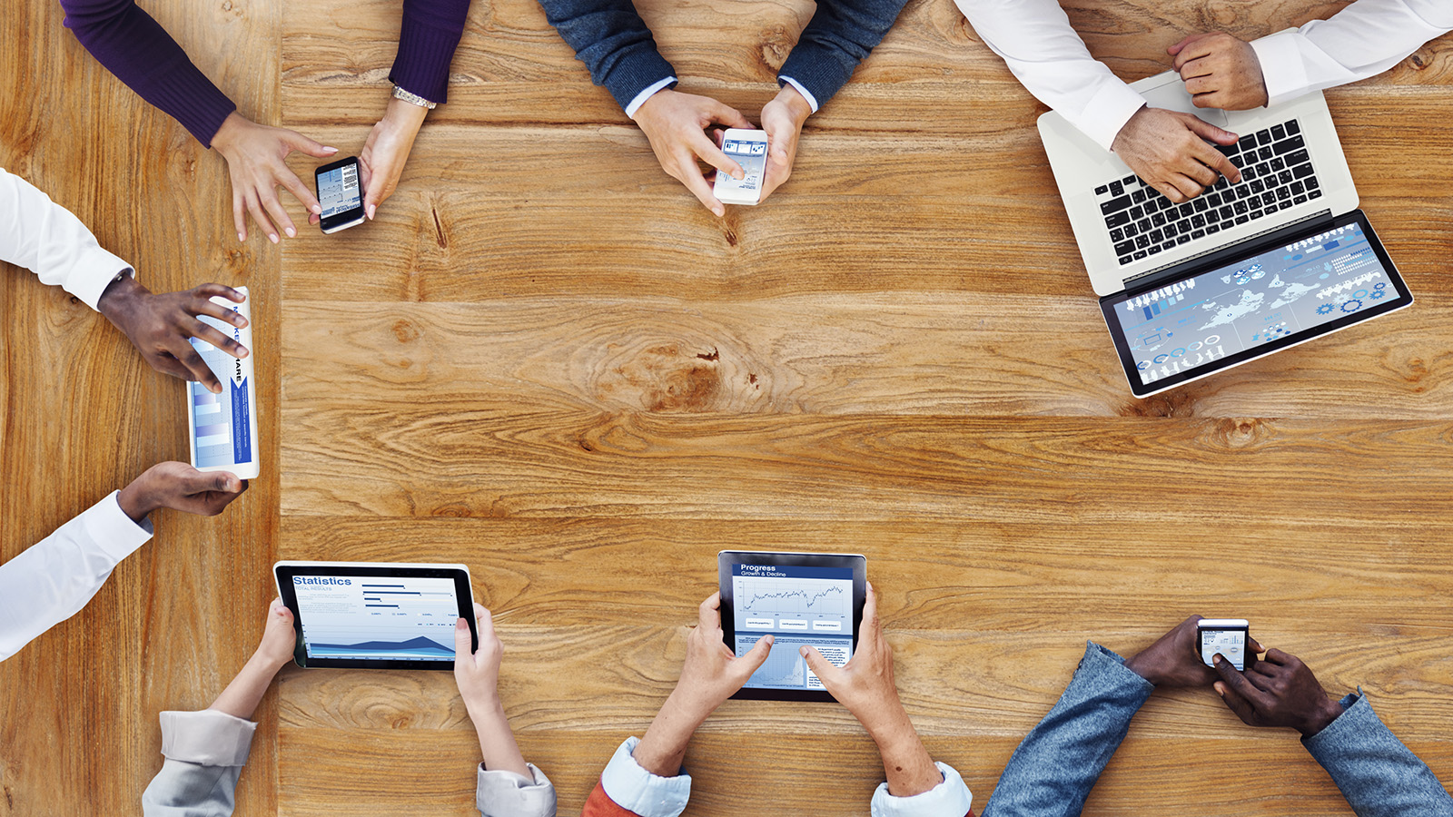 Business People Working with Technology